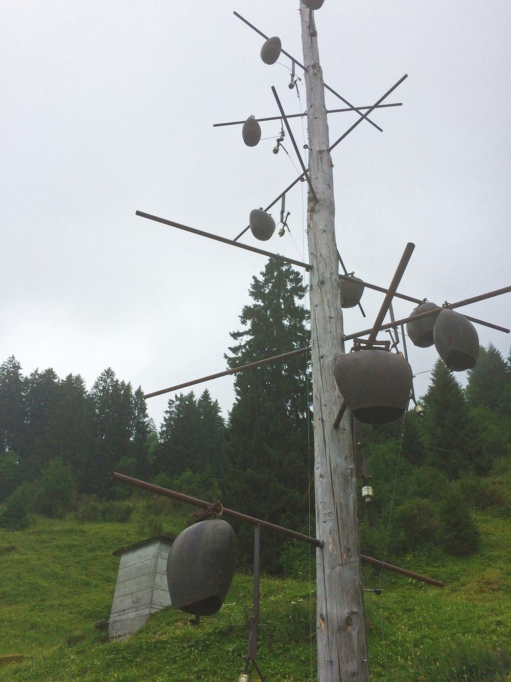 Klangstation auf dem Klangweg Toggenburg - eine Familienwanderung in Wildhaus