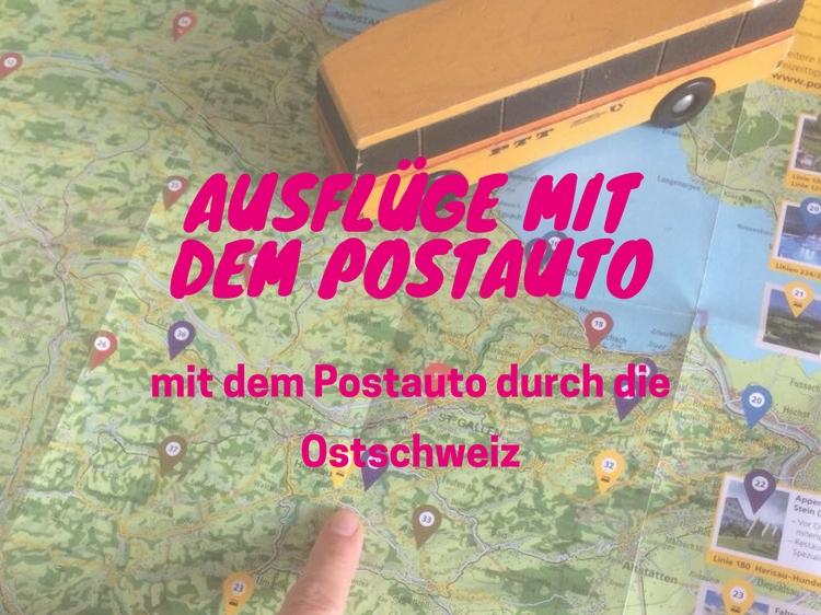 Auflugstipps mit dem Postauto in der Ostschweiz, hier findest du deinen nächsten Familienausflug.