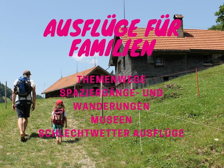 Hier findest du eine Auswahl an tollen Familienausflügen. Themenwege, Spazier- und Wanderwege, Schlechtwetter Ausflüge.....