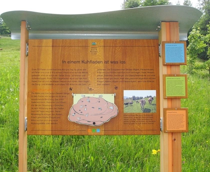 Wanderstationen auf dem Weg zum ersten Baumwipfelpfad der Schweiz