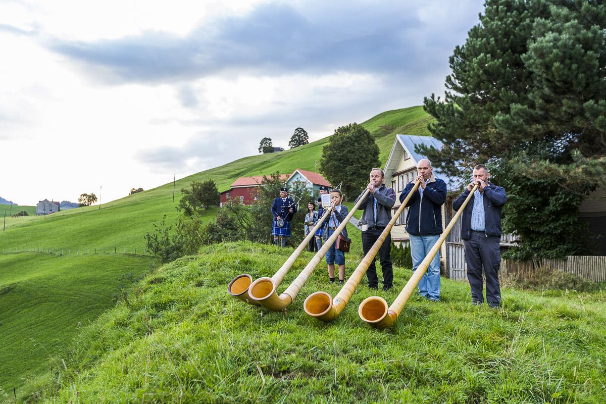 Am Familien Openair in Urnäsch gibt es nebst Kindermusik auch traditionelles aus dem Appenzellerland