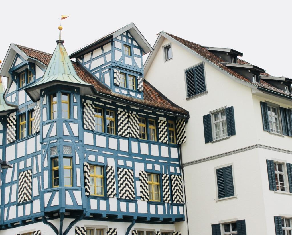 die Altstadt St.Gallen mit wunderschönen Gebäuden aus der Vergangenheit
