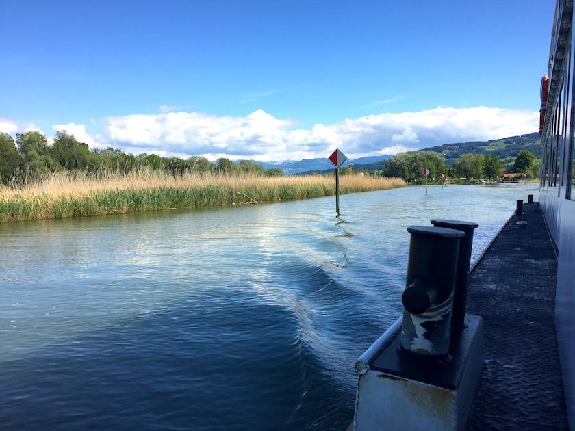 Ausflug mit Kindern: Schifffahrt auf dem Alten Rhein auf der Erlebnisrundfahrt und Witzweg im Appenzellerland