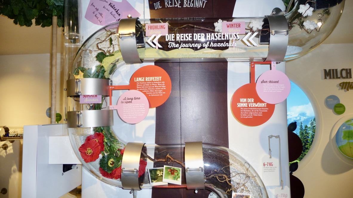 Interaktiver Rundgang in der Schokoladenfabrik Chocolarium Maestrani in Flawil.
