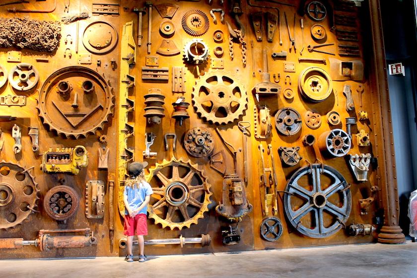 Der Eingangsbereich und das ganze Baggermuseum ist modern und freundlich gestaltet.