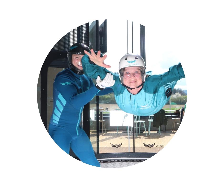 Indoor Skydiving im Windwerk Winterthur ab 5 bis 99 Jahre
