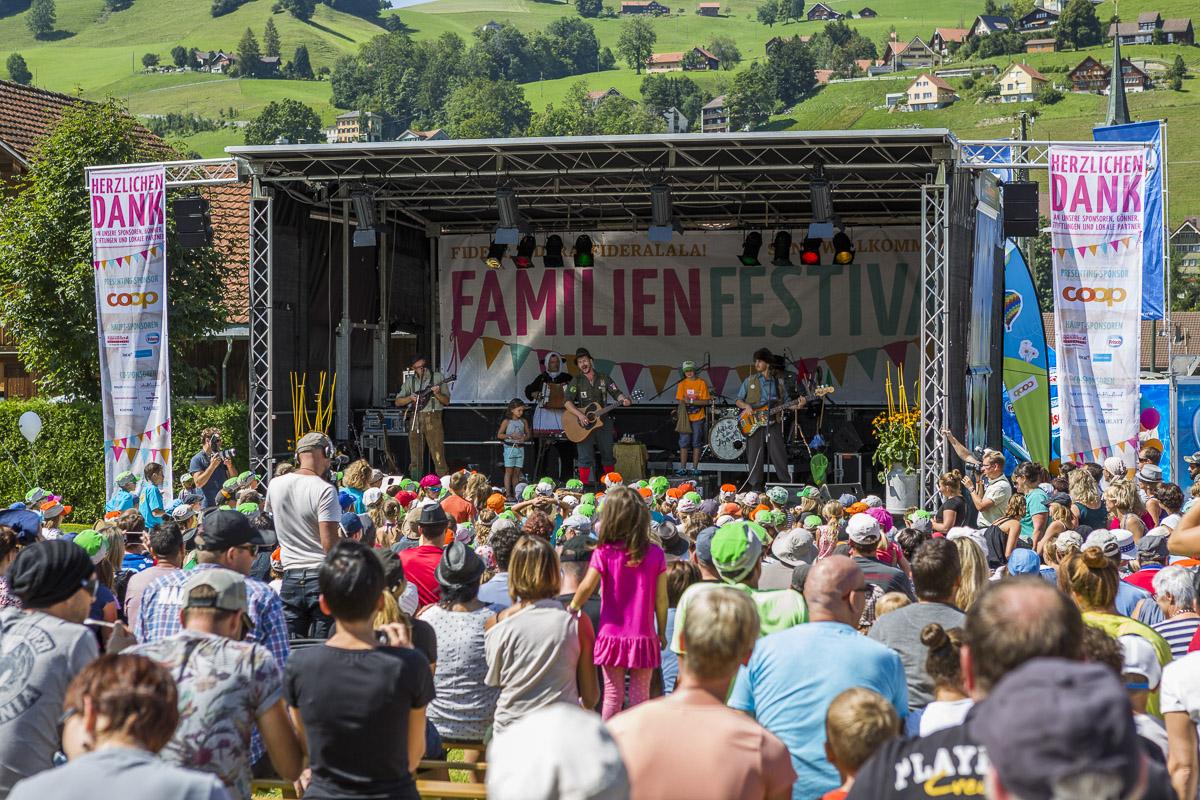 Das Familien Festival Urnäsch ist ein Kinder-/Familien Openair mit Kindermusik und Unterhaltung