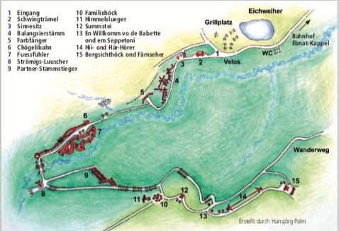 Der Sinnepark Ebnat-Kappel ist ein Ausflugstipp für Toggenburg mit Kind