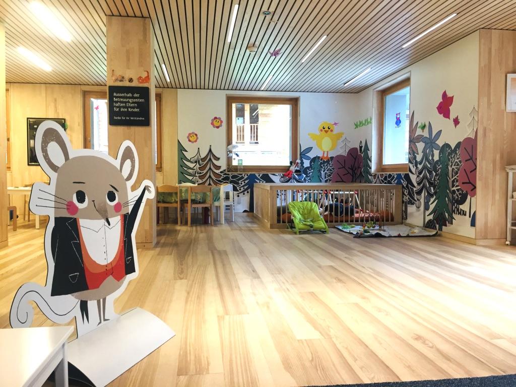 Liebevoll gestalteter Kinderbereich im Familienhotel Gorfion