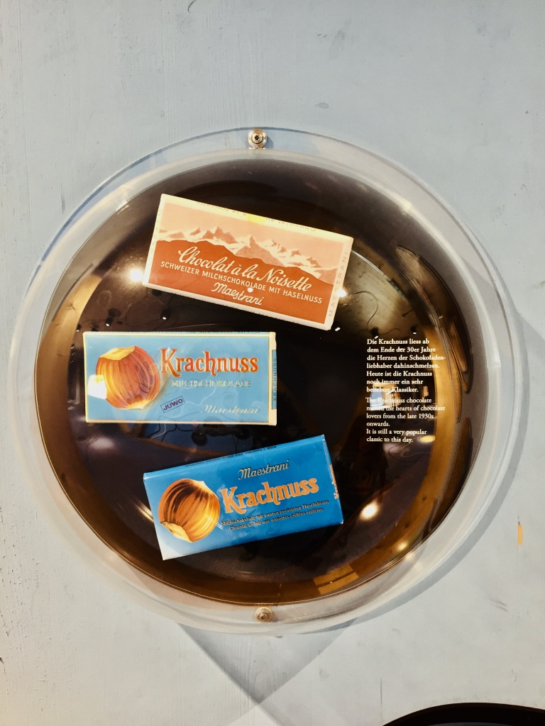 Krachnuss Schokolade im Chocolarium Maestrani