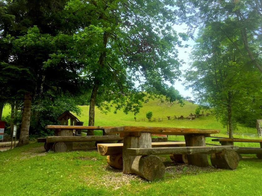 Picknickplatz Feuerstelle beim Sinnepark Ebnat-Kappel im Toggenburg