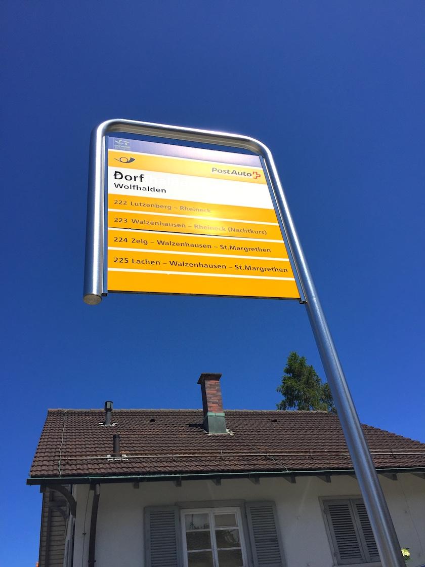 Postautofahrt auf der Erlebnisrundfahrt und Witzweg Appenzell