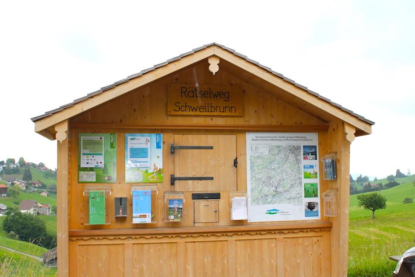 Der Rätselweg Schwellbrunn ist ein tolles Ausflugsziel in der Ostscchweiz für die ganze Familie.