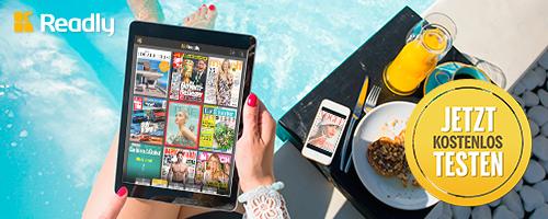 Mit der Magazin Flatrate von Readly kannst du hunderte Magazine in einer App lesen.