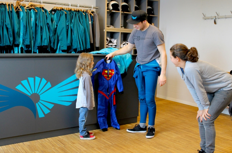 Programm bei Regen in Winterthur - Indoor Skydiving mit der ganzen Familie