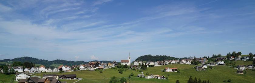 Schwellbrunn im Appenzellerland wurde 2017 zum schönsten Dorf der Schweiz gewählt.