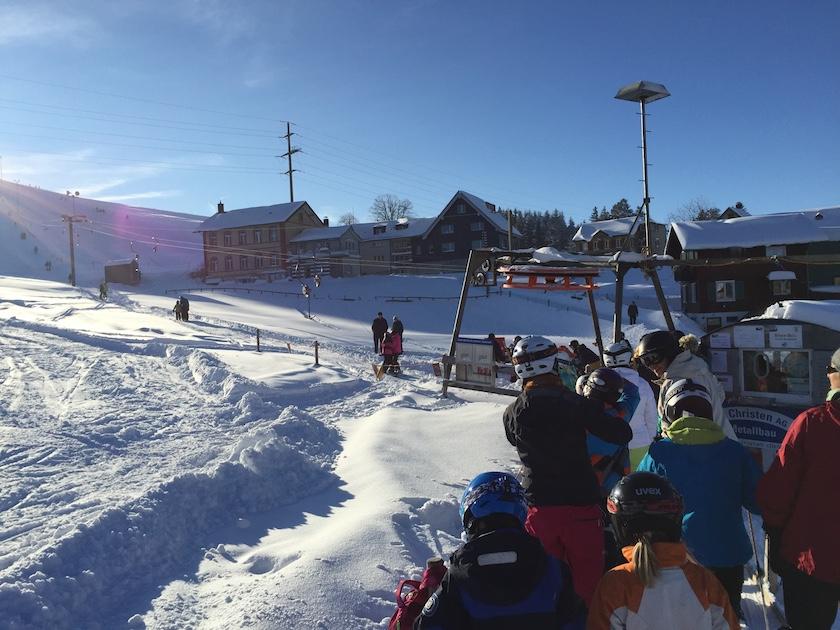 Skilift Vögelinsegg in Speicher, perfekt für Familien und Anfänger.