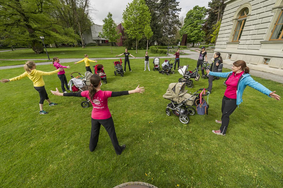 Sport für Mütter mit Baby in der Ostschweiz