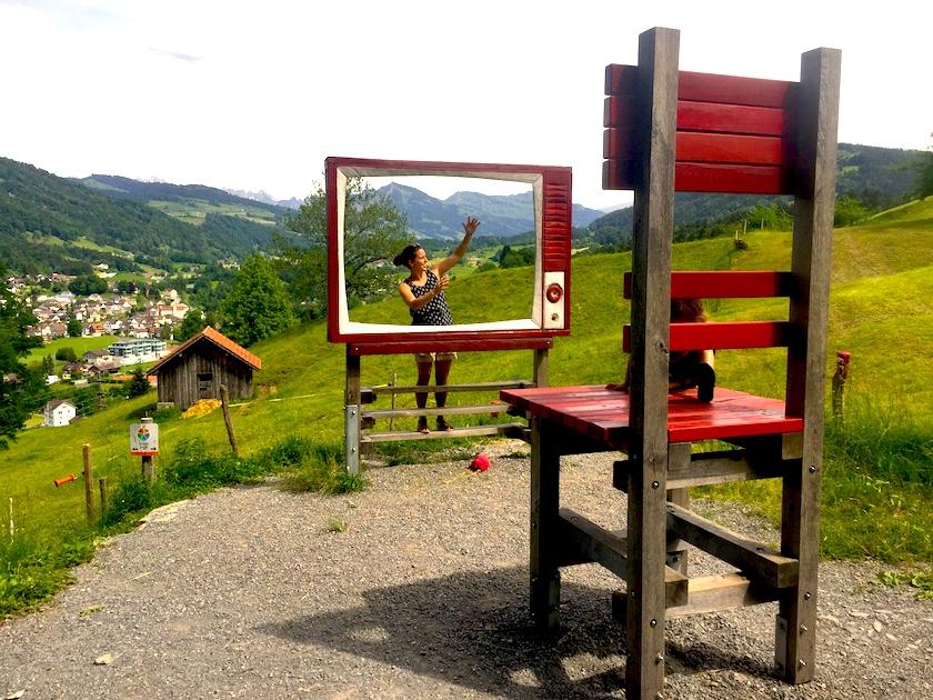 Im Sinnepark Ebnat-Kappel können die Sinne spielerisch erlebt werden. Ein Familienausflug im Toggenburg.