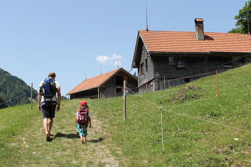 Eine Wanderung mit Kindern in der Ostschweiz
