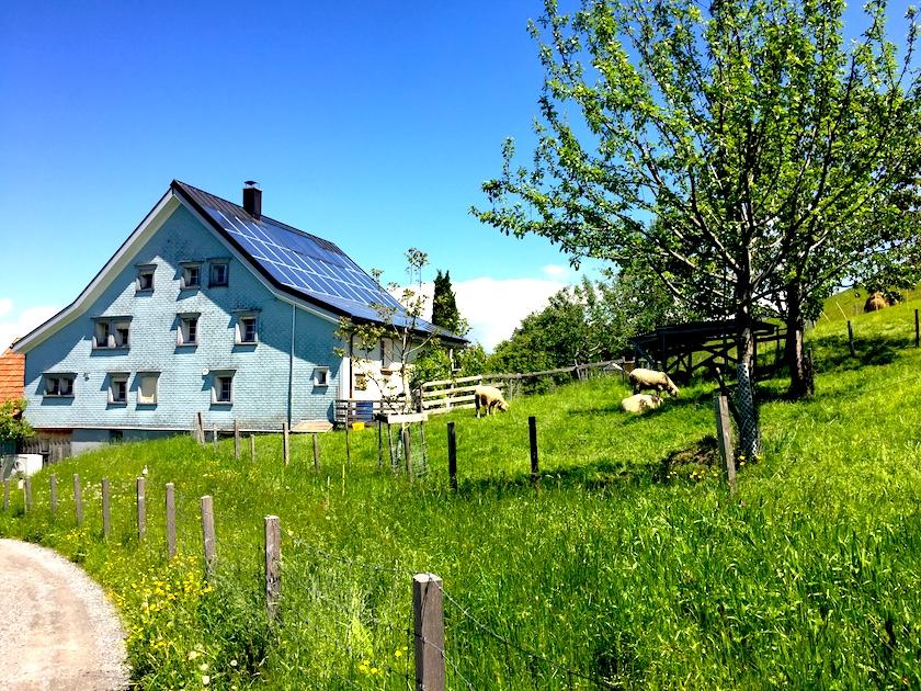 Ausflug und Wanderung mit Kindern im Appenzellerland, hier auf der Erlebnisrundfahrt und Witzweg